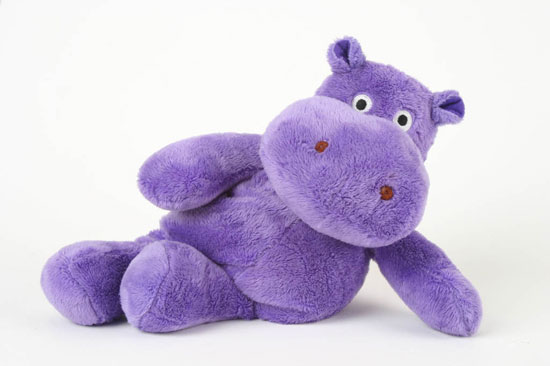 Microwaveable Wheat & Lavender Filled Hippo